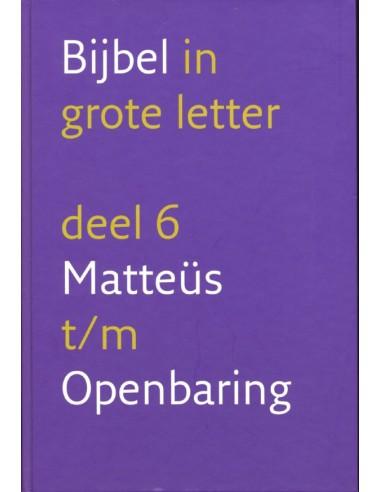 NBV - Bijbel grote letter/Matteüs t/m...