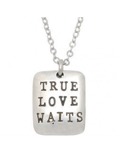 necklace - True Love Waits Tag -...