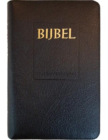 Bijbel (SV) met goudsnee, rits en duimgr